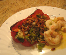 Red Peppers with Spicy Shrimp
